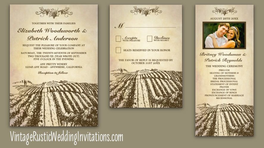 17 Best images about Vineyard Wedding Invitations on Pinterest ...