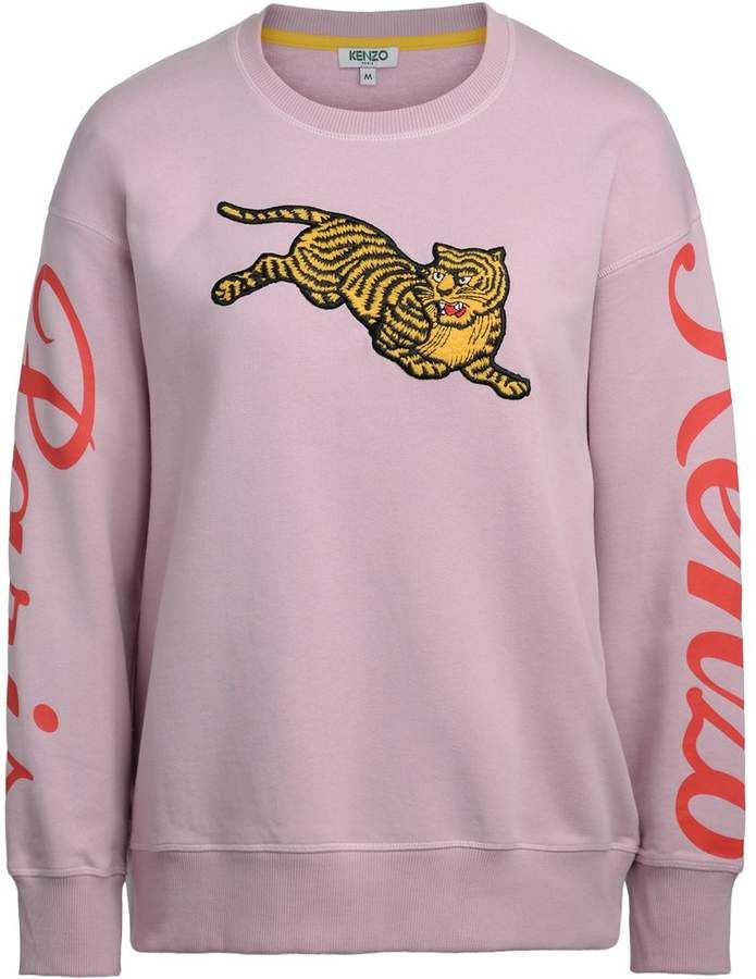 d123204cff Kenzo Jumping Tiger Pink Fleece With Maxi Patch | Products | Kenzo ...