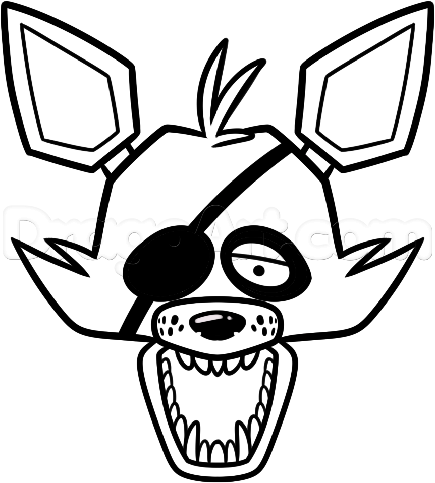 foxy the pirate coloring pages - photo#27