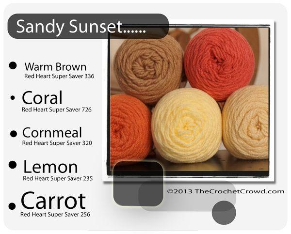 Sandy Sunset Super Saver Color Mix Pinterest Yarn Colors Colour