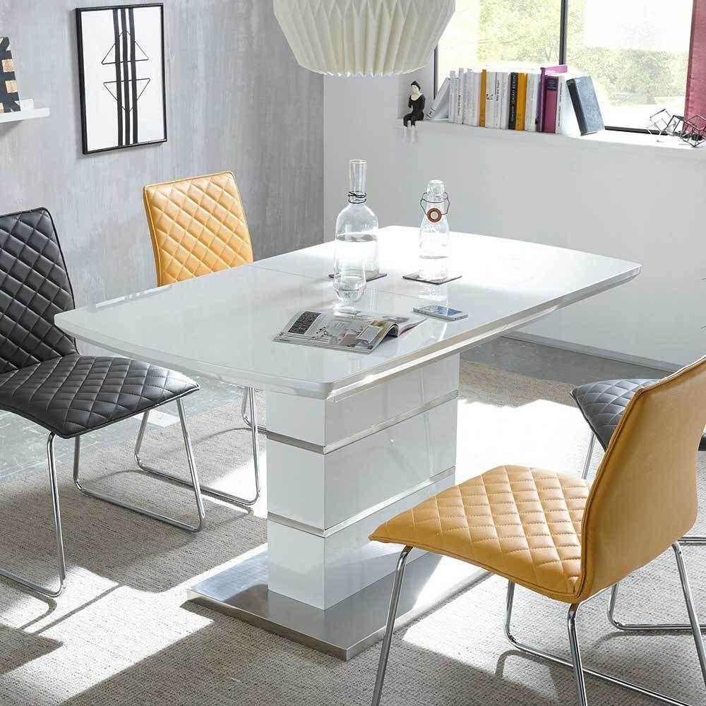 esszimmertisch in wei hochglanz ausziehbar jetzt bestellen unter. Black Bedroom Furniture Sets. Home Design Ideas
