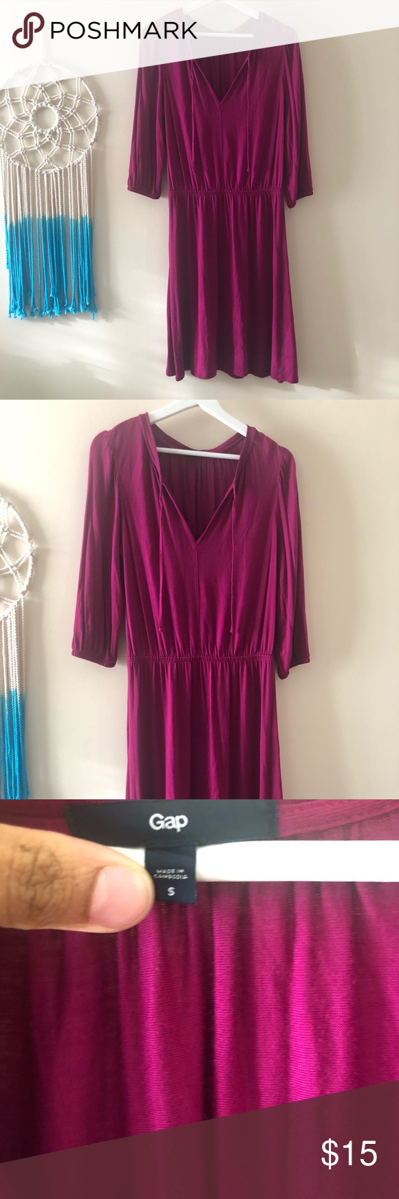 Like New magenta Gap dress size s
