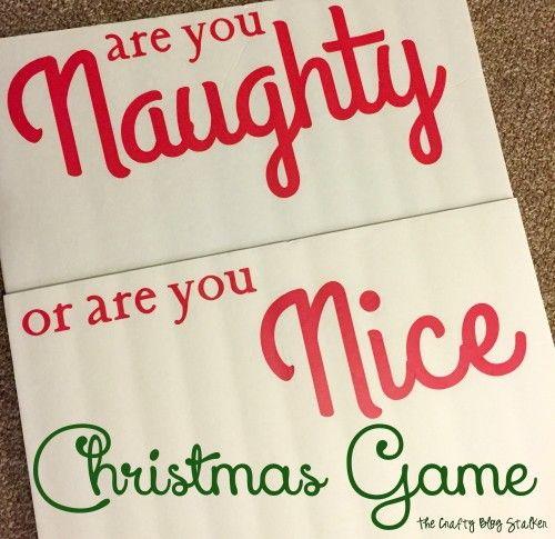 Christmas Family Party Games: Naughty Or Nice Christmas Game