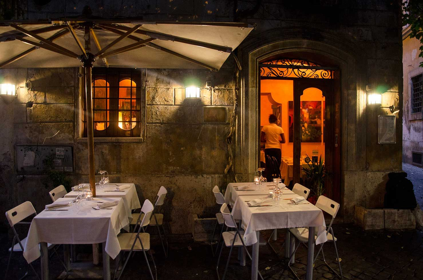Rome---, Il Bacaro. near the Pantheon about a block off ...