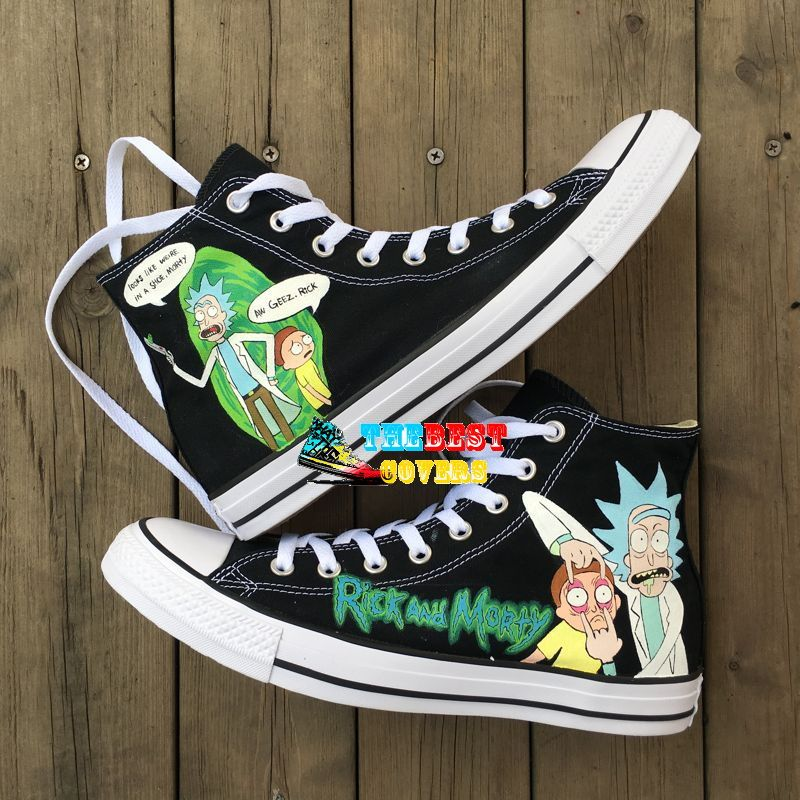 f950f5ecd78b Get your own customized Rick and Morty (1 ) Hand Painted Sneaker High Top  Model Trainer 100% Brand NEW and Original for Men   Women