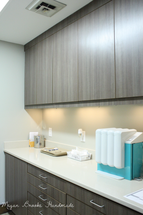Gray Cabinets White Counters For Operatories Sterilization