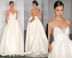 High waist wedding dress. #bridal