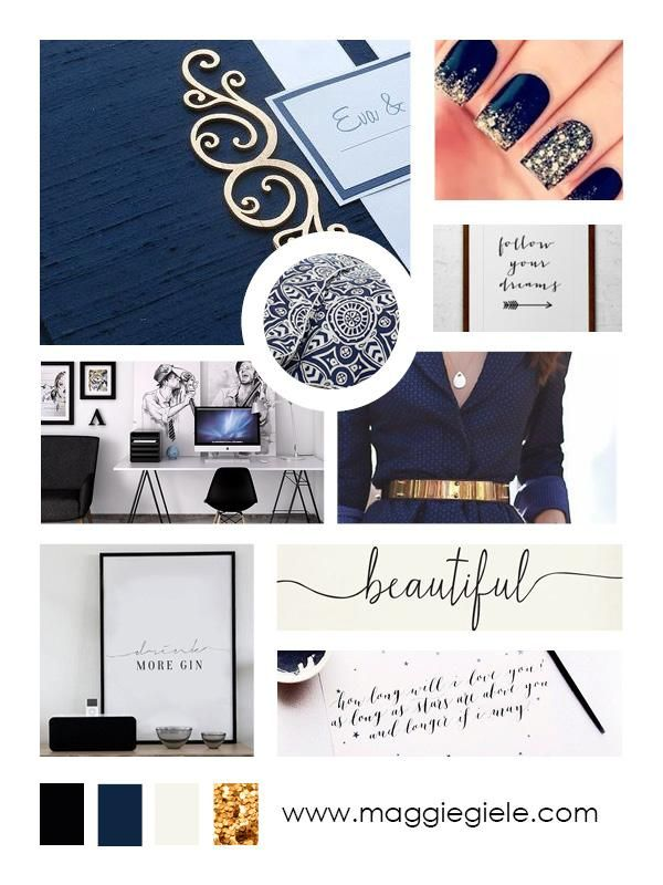 Mood board/ inspiration board for the branding of Maggie Giele, marketing and business strategy specialist and web designer. Clean, elegant and professional design with a touch of femininity. www.maggiegiele.com