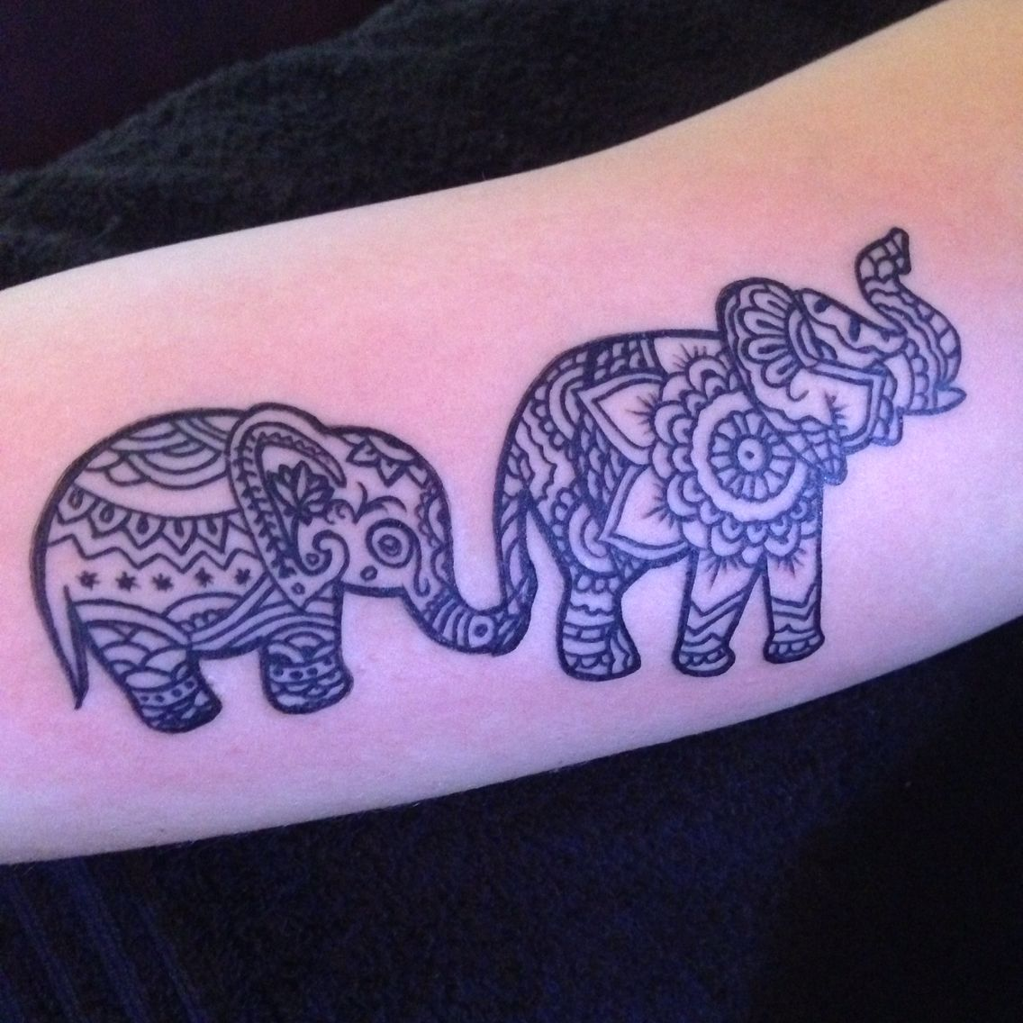 Elephant Mandala Baby-elephant Tattoo Custom Craze Design