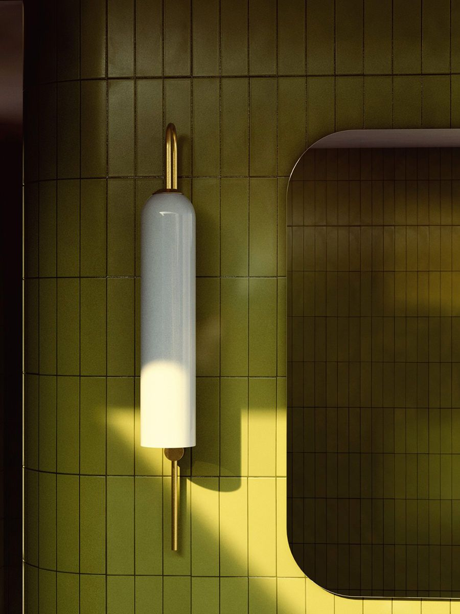 70s Bathroom Lamp With Mirror In Sunset In 2020 Badezimmer Farbideen Badezimmerlampe Retro