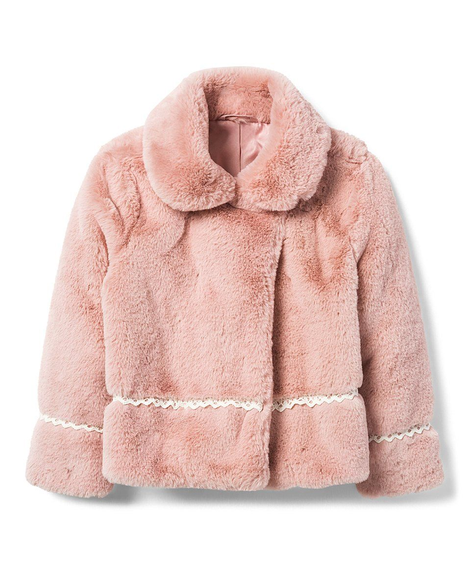 8541cf9435961 Take a look at this Petal Pink Faux Fur Jacket - Toddler   Girls today!