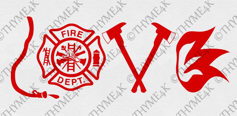 "Download Digital Design ""LOVE"" Fire Department Instant Download ..."