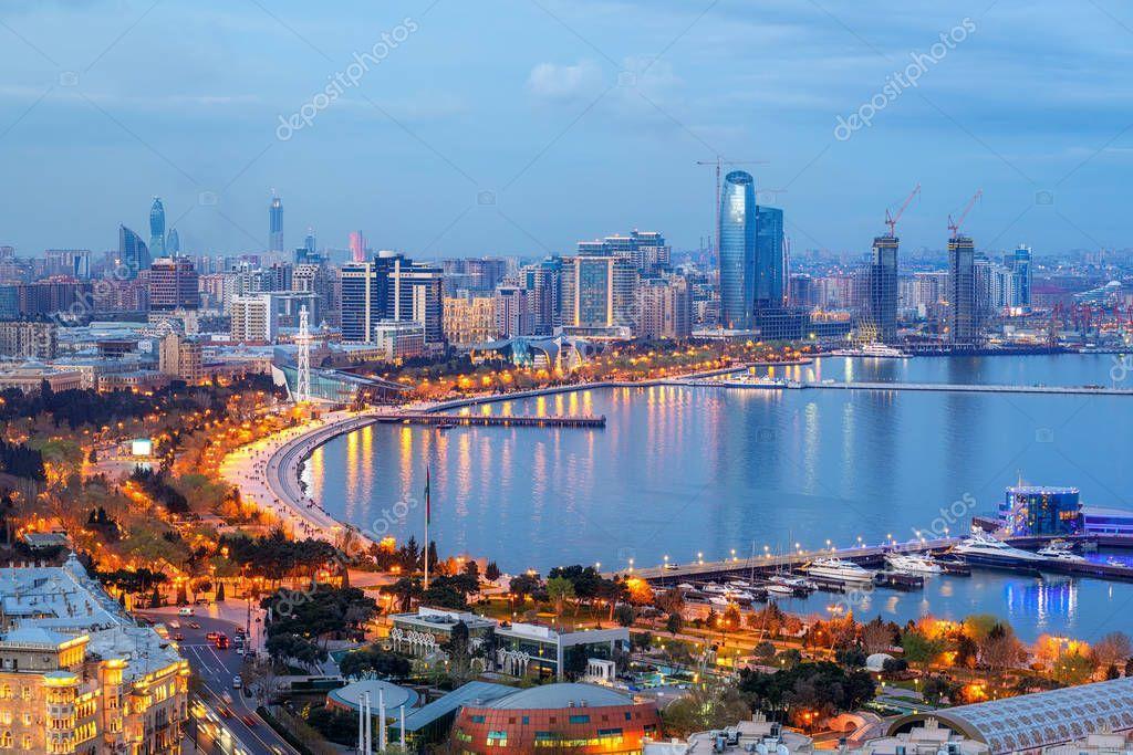 Baku City Modern Skyline Azerbaijan Stock Photo Ad Modern City Baku Skyline Ad Baku City Skyline City