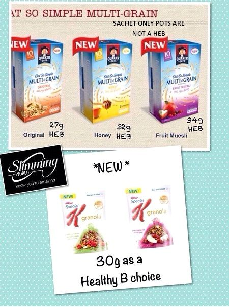 New Oat So Simple and Special K Healthy Extra B Choice ...