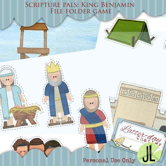 Scripture Pals King Benjamin File Folder Game By Latterdaychatter