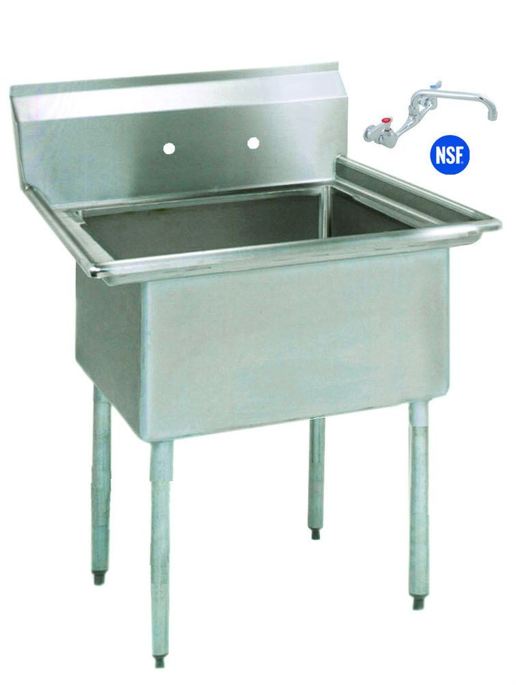 Details About Stainless Steel 1 One Compartment Utility Prep Mop
