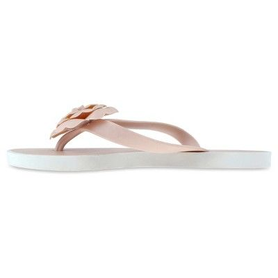 43cfe6bcc990 Women s Capelli Floral Jelly Flip Flop Sandals - Nude 6