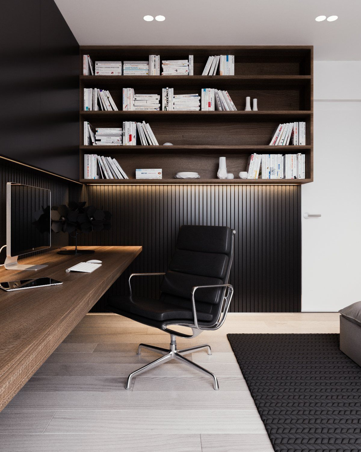 home office simple neat. A Calm And Simple Family Home With Neat Features. #officespace #simplistic Office L