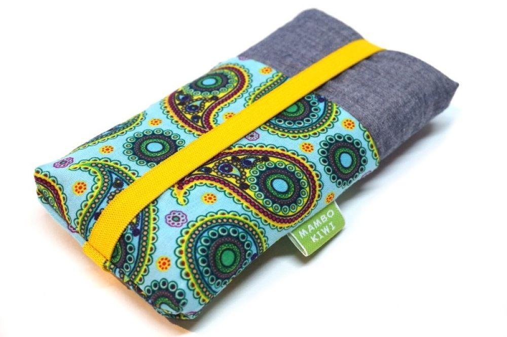 7a30de5990ea Pochette portable tissu ethnique, Housse smartphone, Coque iPhone à poches,  Housse téléphone portable