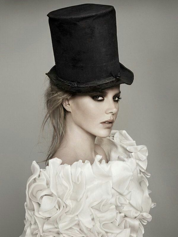 The softer Victorian side of Steampunk fashion is depicted in this simple beauty shot.