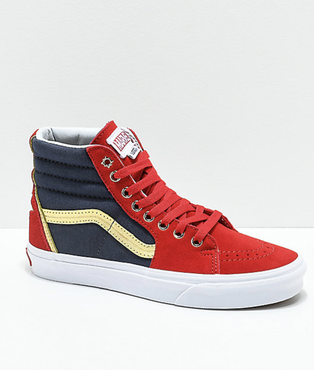 83c593fa50 Details about NEW Vans x Marvel Sk8-Hi Captain Marvel Red