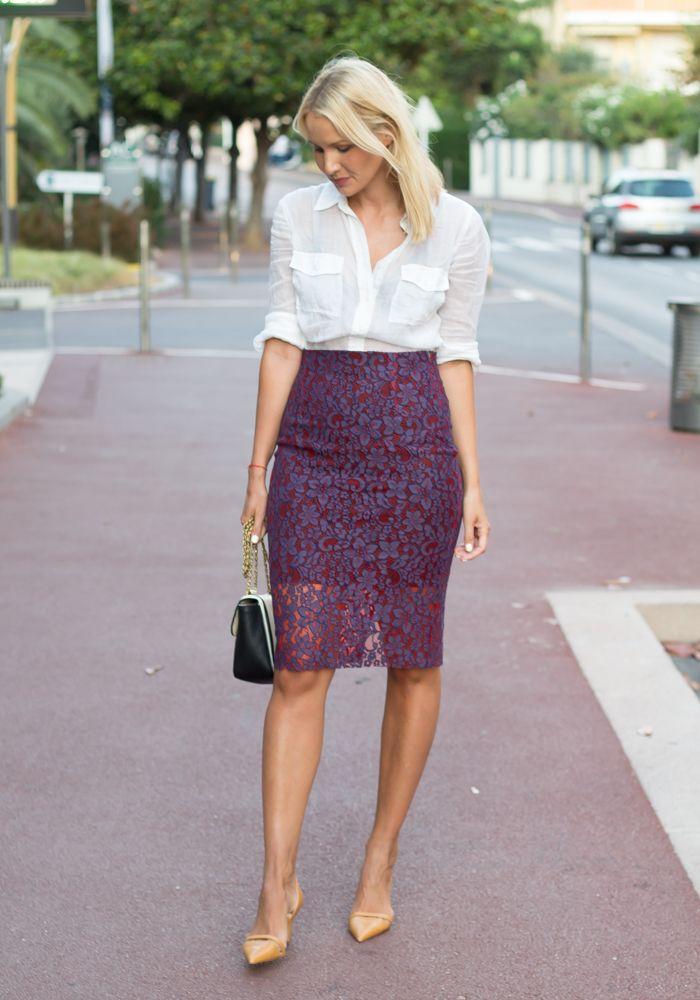 Lace Pencil Skirt Dress