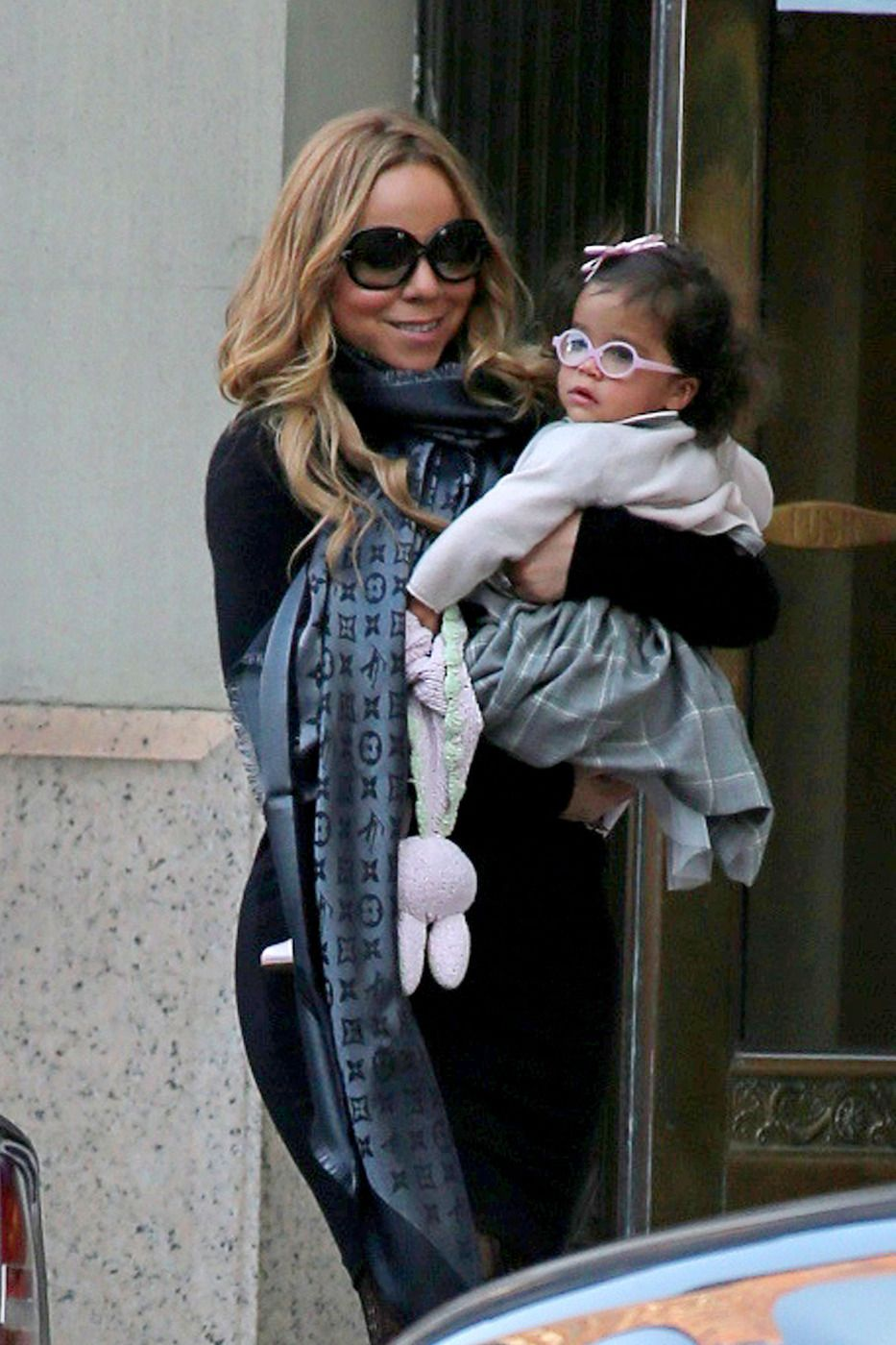0b6fe3dcea8c Mariah Carey carries her baby daughter Monroe while out and about in  Tribeca