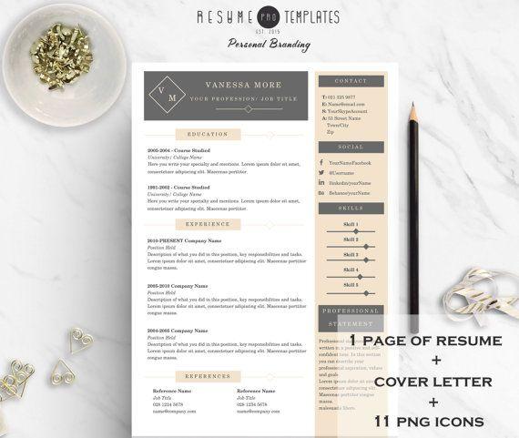 Lebenslauf \/ CV Vorlage Anschreiben 11 von ResumeProTemplates - cover page of resume