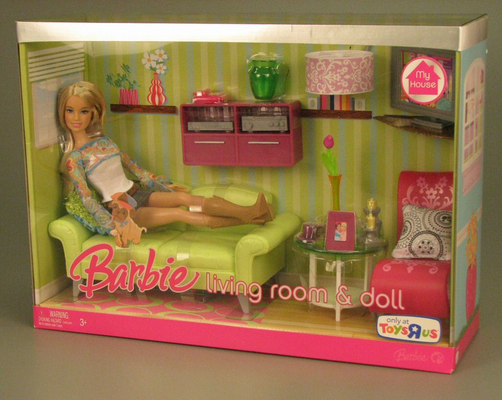 2007 Barbie My House Accessories Playset Play Set Living