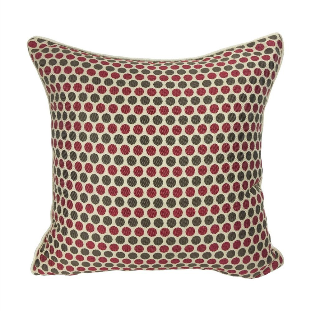 Geometric small dots pipping pillow cover decorative jacquard woven