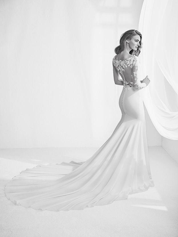 Célèbre Wedding Dress by Pronovias 2018 // Lace wedding dress// Robes de  PD64