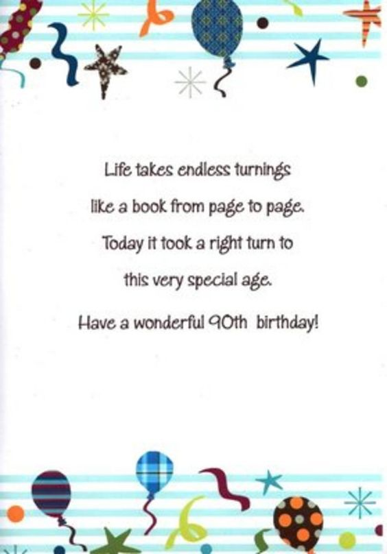 verses for a 90th birthday card Google Search – Google Greetings for Birthday