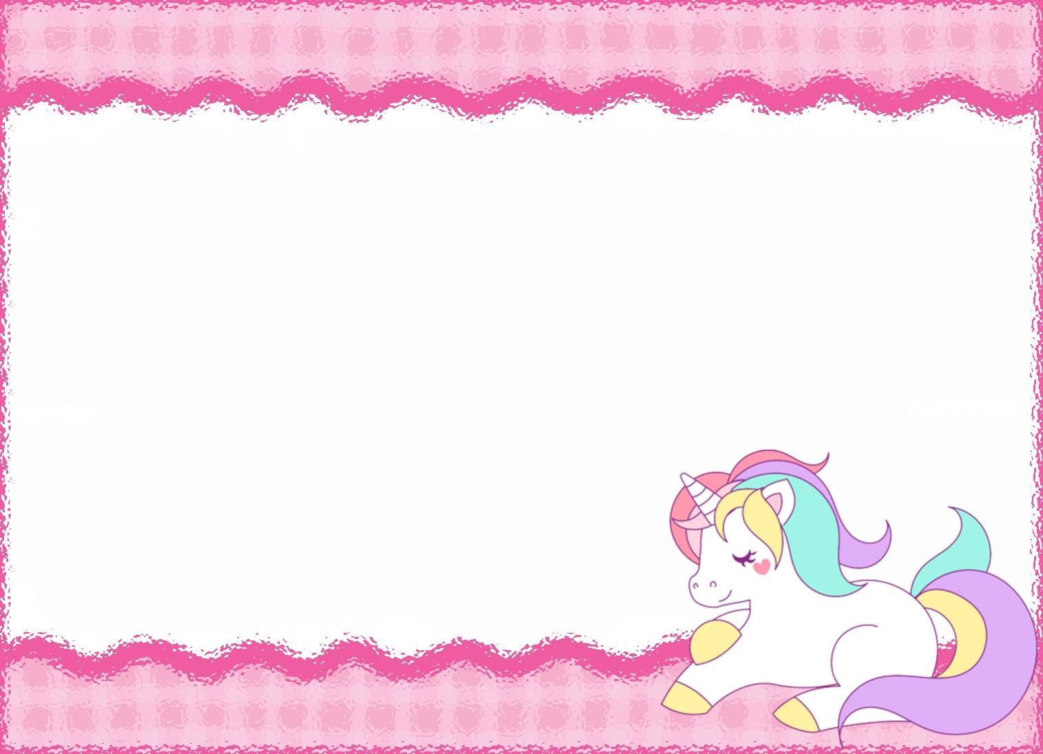 image about Unicorn Template Printable known as Absolutely free Printable Unicorn Birthday Invitation Template Get together