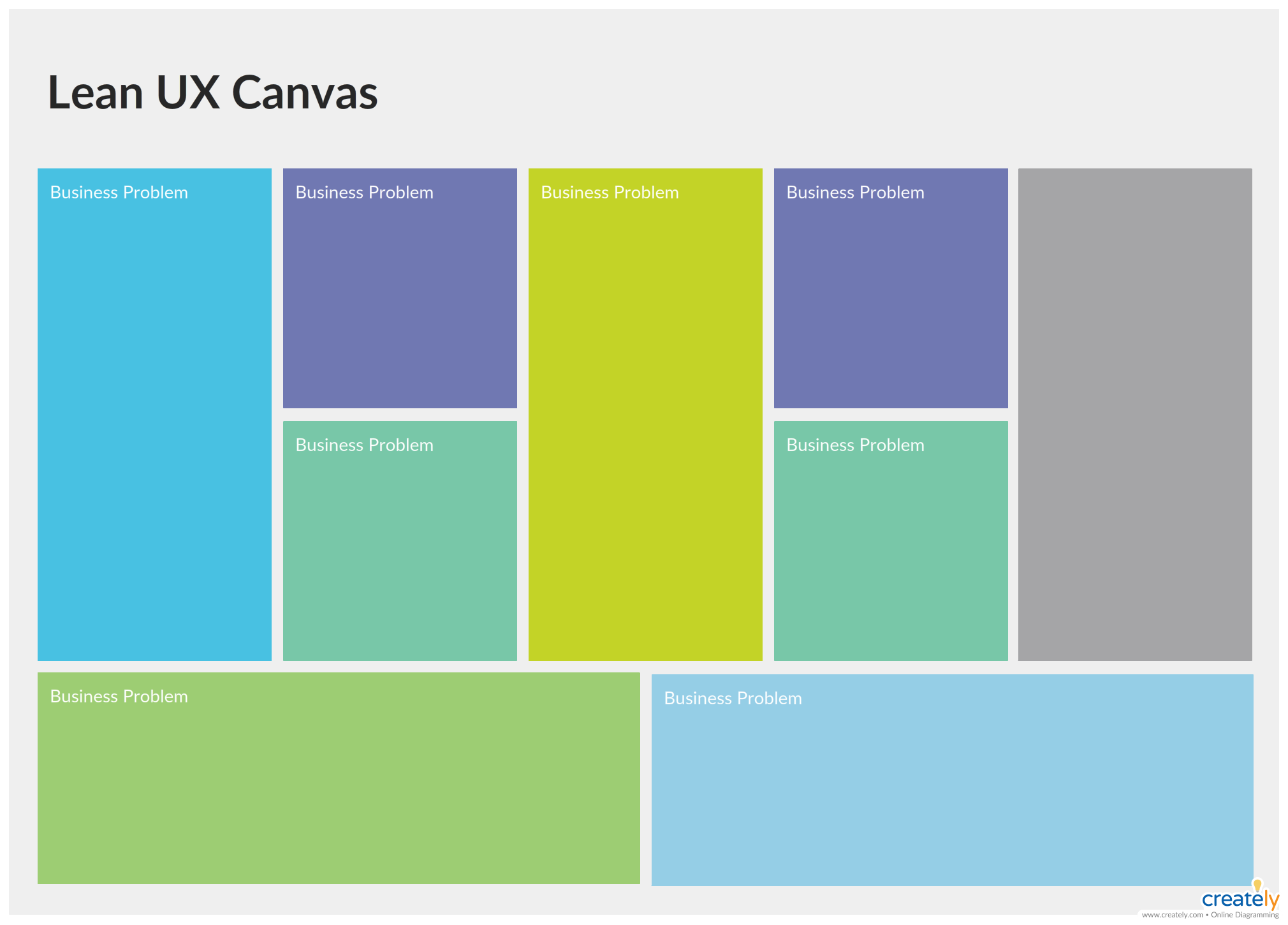 Lean Ux Templates Templates Business Problems Diagram