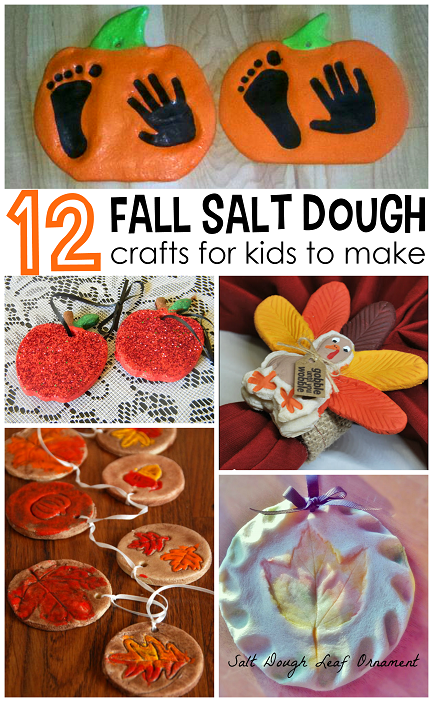Fall Salt Dough Ornaments And Craft Ideas For Kids To Make