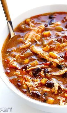Photo of Slow Cooker Chicken Enchilada Soup | Gimme Some Oven