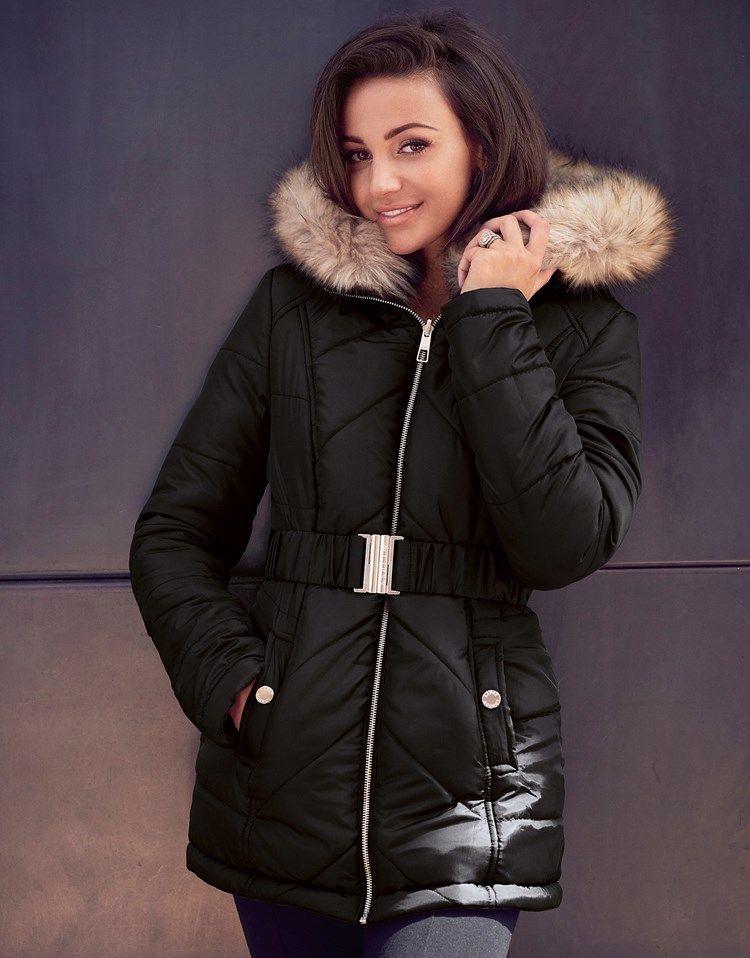 Lipsy black puffer coat