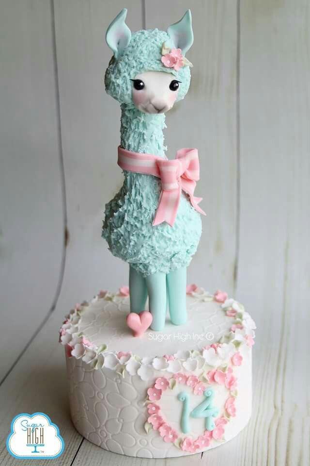 Llama cake topper | Animal cakes, Birthday cake kids, Girl ...