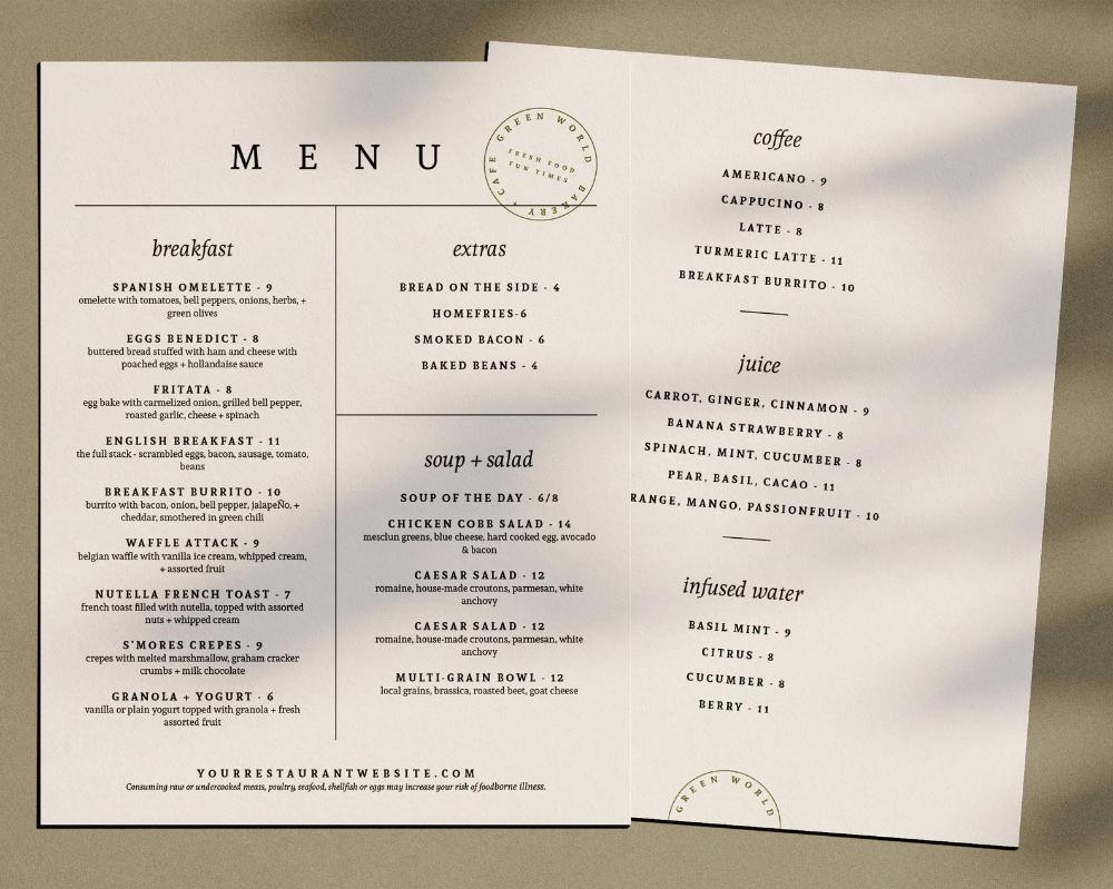 Restaurant Menu Design Minimal Cafe Menu Design Trendy Food Menu Cafe Branding Black And White Menu Sheet Menu For Cafe Coffee Menu Cafe Menu Design Restaurant Menu Design Menu Design