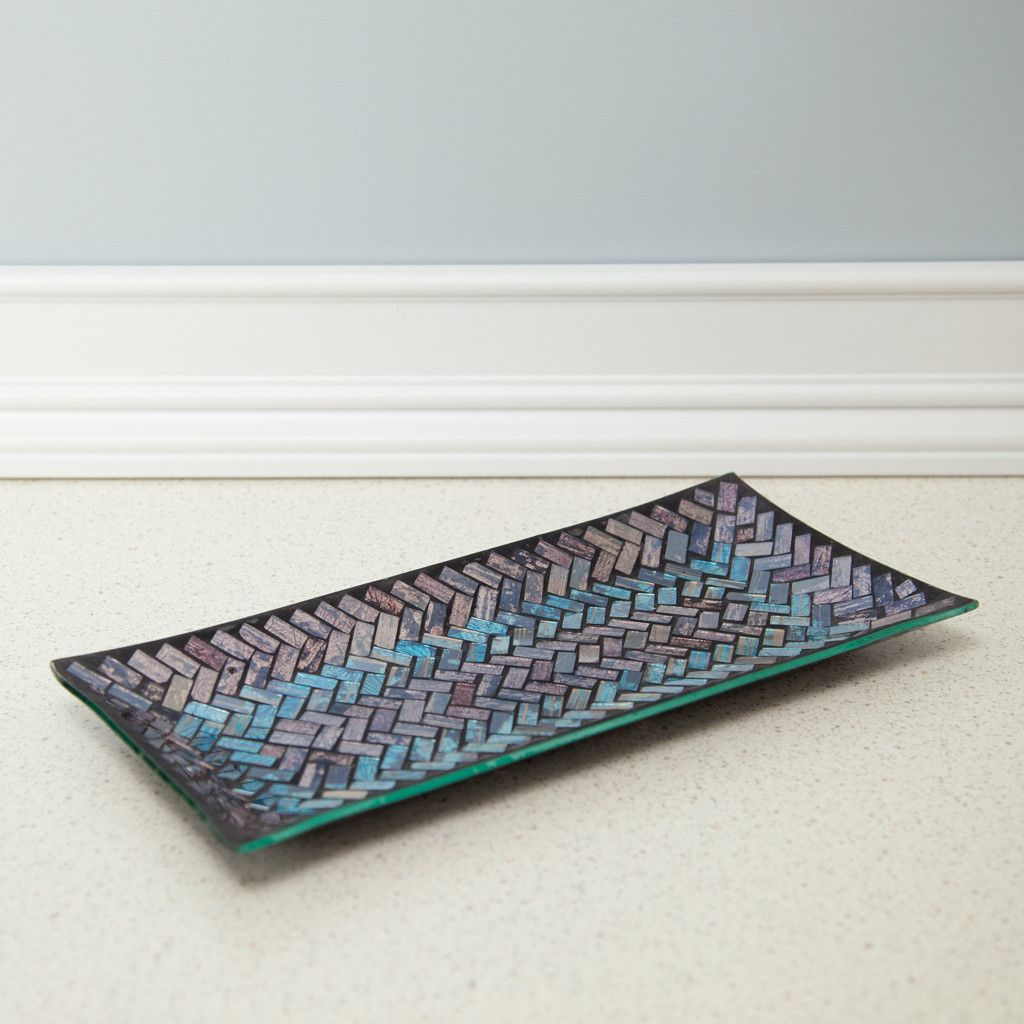 Home Decor Trays Glass Mosaic Vanity Tray For The Bathroom  Home Decor Modern And
