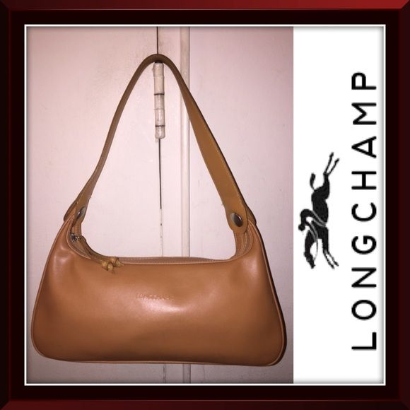 982b5e3075a7 Longchamp Caramel Tan Hobo Leather Shoulder Bag! Longchamp Caramel Tan Hobo  Leather Shoulder Bag! Features  100% authentic