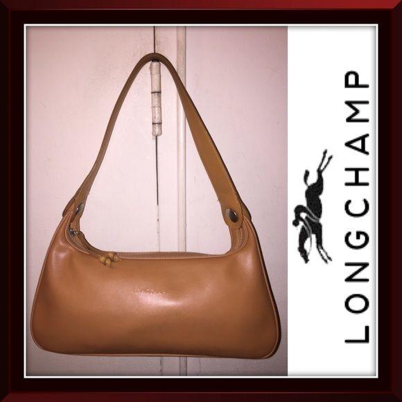 df7b52eccdc7 Longchamp Caramel Tan Hobo Leather Shoulder Bag! Longchamp Caramel Tan Hobo  Leather Shoulder Bag! Features  100% authentic
