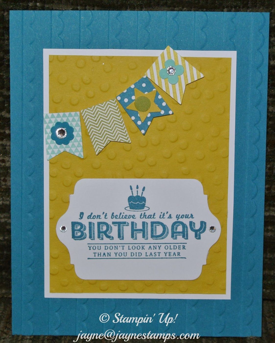 Banner Blast and See Ya Later stamp sets, Banner Punch, Decorative Dots TIEF