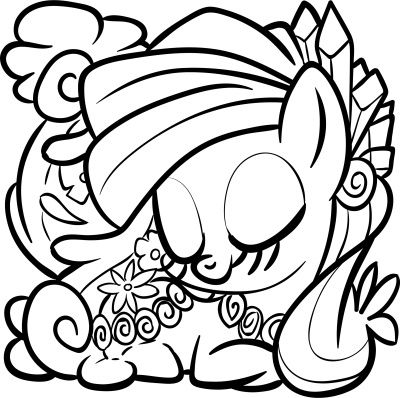There is a beautiful My Little Pony Coloring Book with 96 pages to ...
