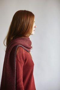 V-Neck Sweater Alpaka - red - Les Racines Du Ciel