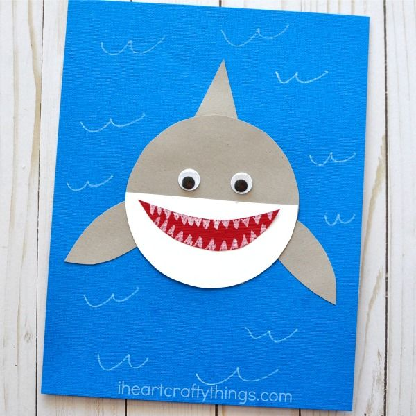 Shark Week Simple Paper Shark Craft Shark Craft Ocean Crafts
