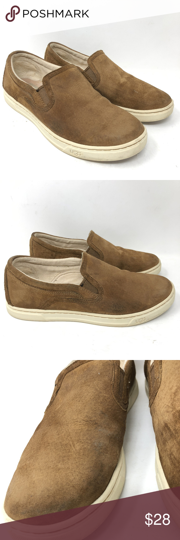 b90b2f63a2e Ugg Fierce Slip On Sneakers Chestnut Suede Loafers Ugg Australia ...