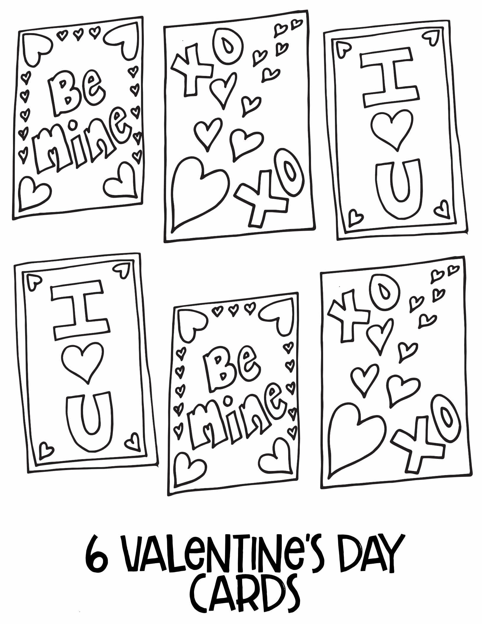 Free Number 6 Valentine S Printable Activity Coloring Page
