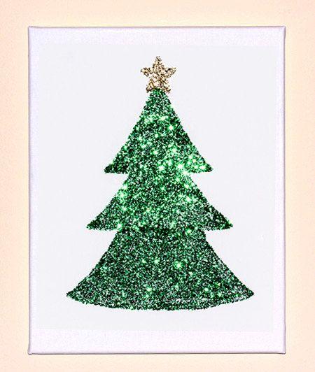 Christmas Tree Minimalist Glitter Artwork 2013 Collection