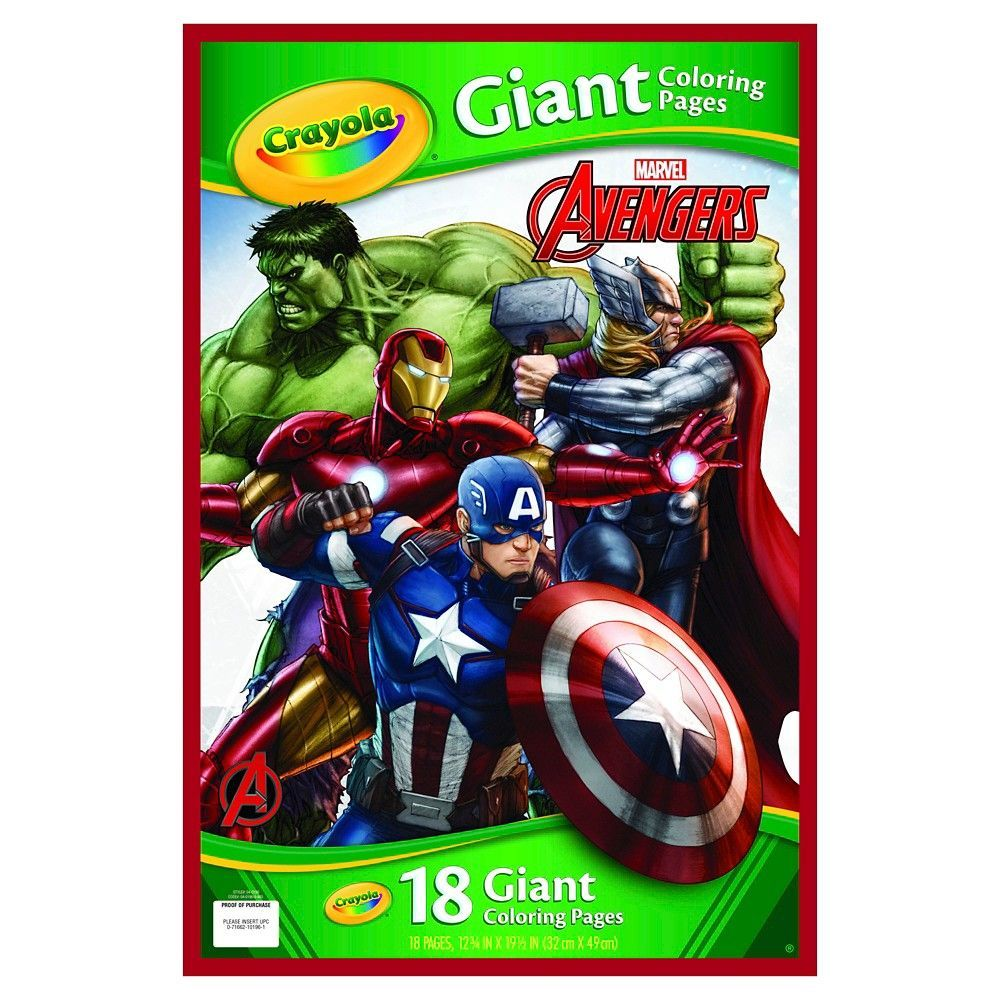 crayola giant coloring pages marvel u0027s avengers white products